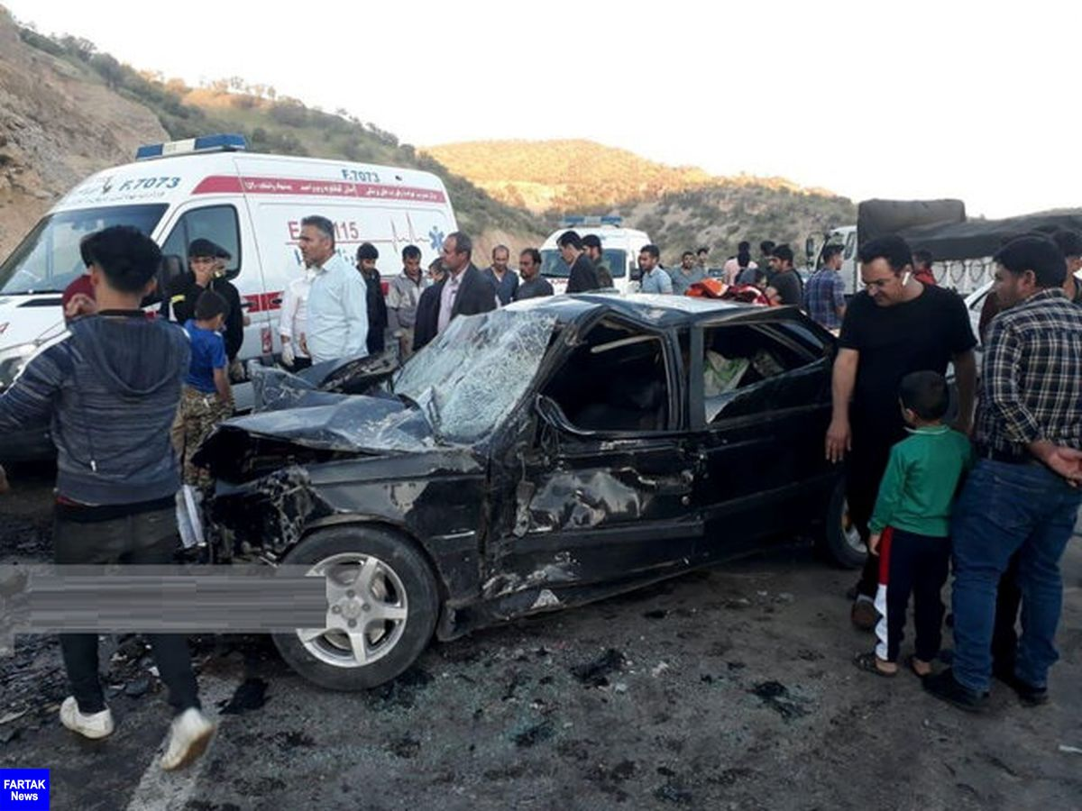 """۲ کشته و ۲ مصدوم در تصادف رانندگی محور"""" یاسوج- اصفهان"""""""