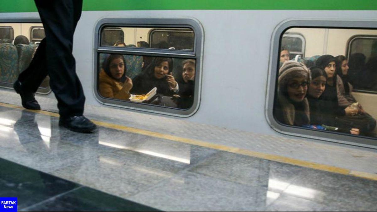دستگیری زنی که در مترو تهران کشف حجاب کرد