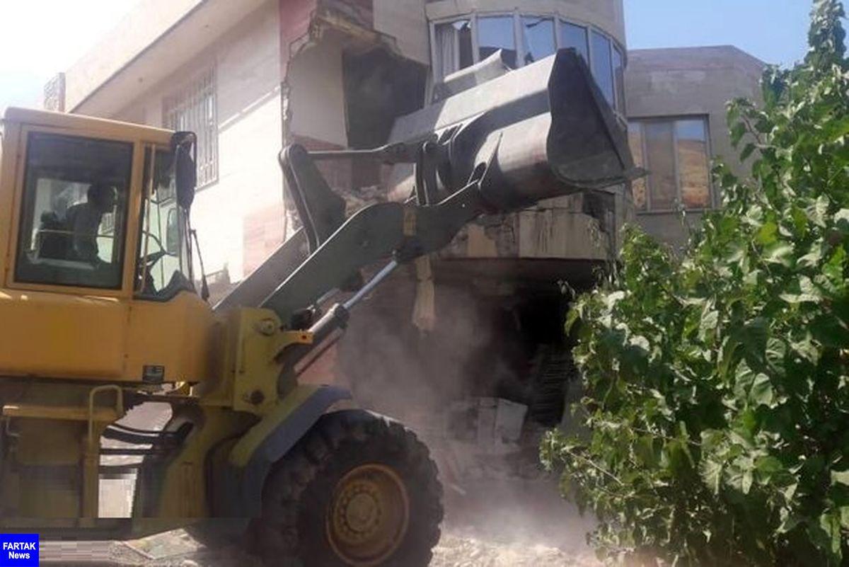 تخریب ۱۸ ساخت و ساز غیرمجاز در شمیرانات