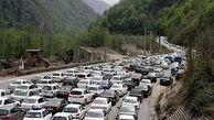 ترافیک نیمهسنگین در محور هراز و چالوس