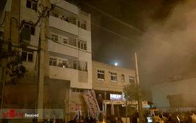 انفجار و آتش سوزی مهیب در بلوار نصر شیراز + تصاویر
