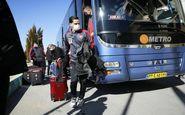 پرسپولیس با اتوبوس آبی وارد ورزشگاه شد