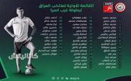 نام همام و بشار در لیست نهایی عراق دیده شد