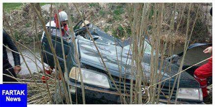 واژگونی پژو RD و سقوط در رودخانه + تصاویر