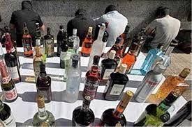 کشف و ضبط بیش از 1000 بطری مشروبات الکلی