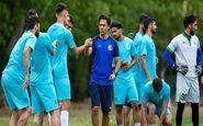 گزارش تمرین استقلال|تشکیل حلقه اتحاد در روز پاداش مجیدی به بازیکنان/ بازگشت 2 مصدوم+عکس