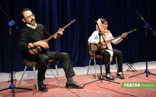 هنرنمایی نوازندگان در تجلیل از روسای انجمنهای ادبی