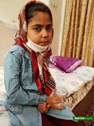 عمل پیوند فاطمه موفقیت آمیز بود/ اشک شوق مادر در دیدار با حاج حسن سلیمانی