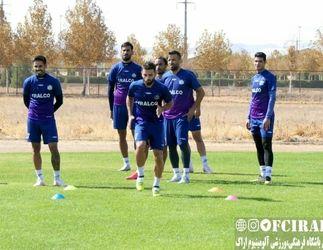گزارش تصویری تمرینات تیم فوتبال آلومینیوم اراک