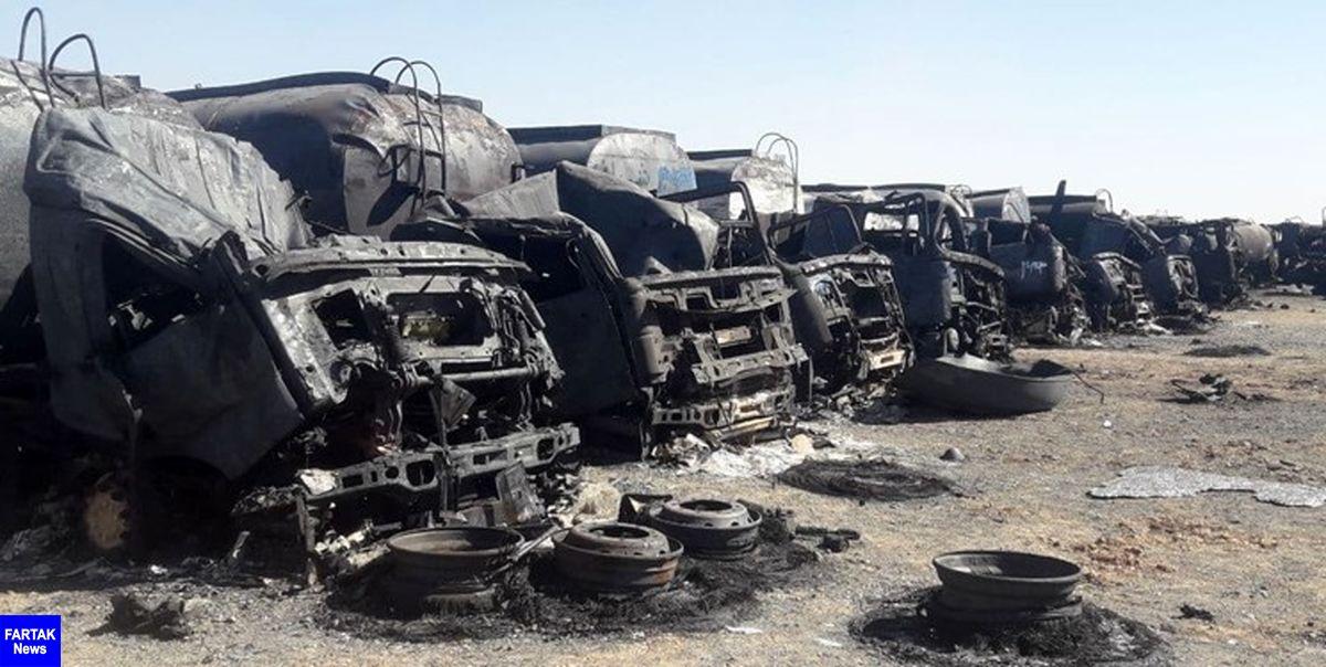 سوختن نزدیک به 100 خودروی ایرانی در آتش اسلامقلعه