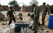 کارواشی که جهادگران مناطق سیلزده را میشوید