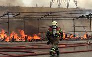 آتش سوزی در پتروشیمی بندر امام