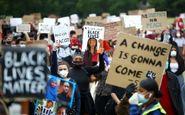 تظاهرات در لندن در اعتراض به قتل «جورج فلوید»
