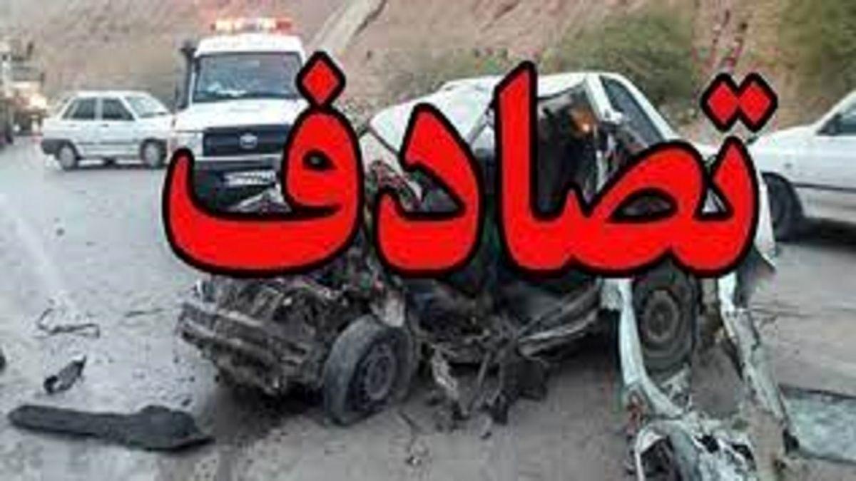 مرگ راننده تاکسی میان ۲خودرو