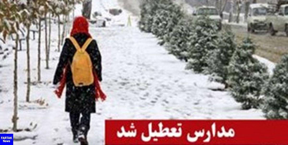 برف و کولاک مدارس استان قزوین را تعطیل کرد