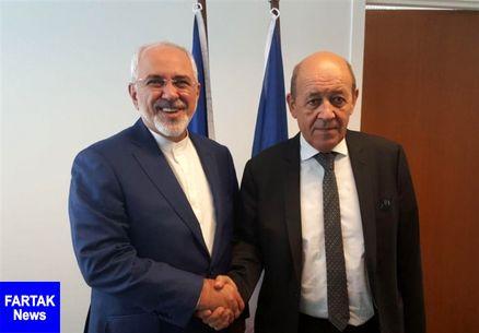 بیانیه وزارت خارجه فرانسه درباره نشست ظریف و لودریان