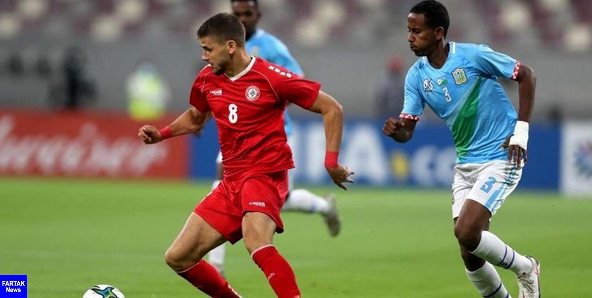 انتخابی جام جهانی 2022 پیروزی پرگل لبنان مقابل سوریه در دیدار همگروه های ایران