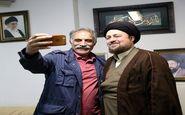 سلفی بازیگر روز واقعه با سید حسن خمینی/عکس