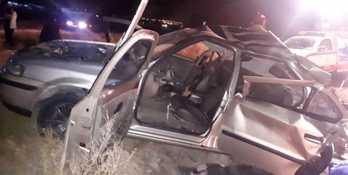 مرگ راننده خودروی سمند در اثر واژگونی