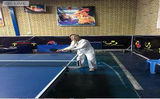 راضیه بورقانفراهانی بانوی هنرمند کرمانشاهی و قهرمان تنیسرویمیز پشکسوتان به روایت تصویر
