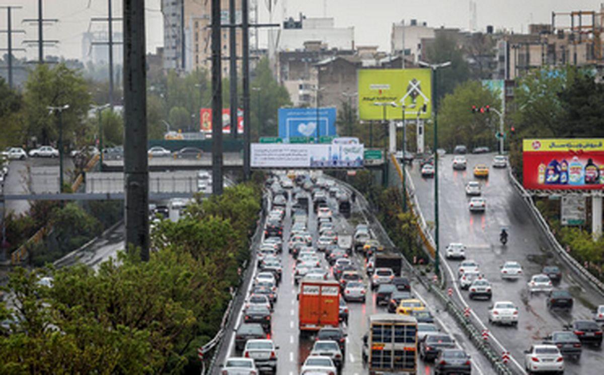 وضعیت ترافیکی معابر پایتخت در روز چهارشنبه