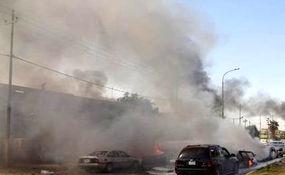 نمایی نزدیک از محل انفجار در عراق + فیلم