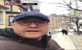 رامبدجوان از تورنتو کانادا و درخواستش از مردم برای کمک به زلزلهزدگان غرب کشور + فیلم