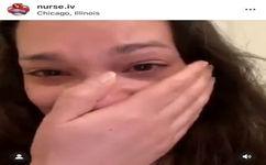 فیلم| گریه های بی امان پرستاری که شغلش را از دست داد/ او اجازه ماسک زدن نداشت