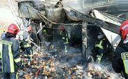 کوچه برلن تهران آتش گرفت