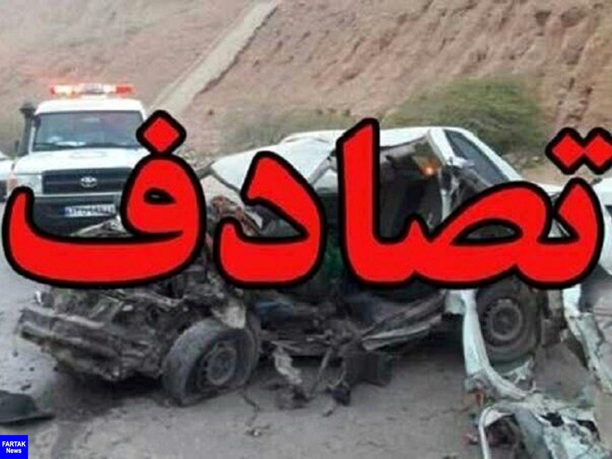 """تصادف زنجیرهای ۷ دستگاه خودرو در آزادراه"""" خرم زال """""""