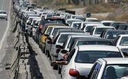ترافیک سنگین و نیمه سنگین در هراز و چالوس