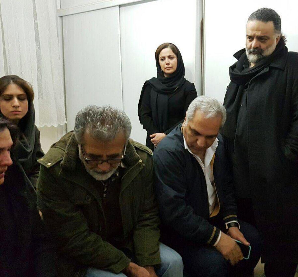 مهران مدیری در خانه علی معلم +عکس