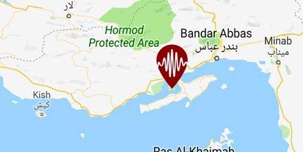 دو زلزله پیاپی بندر لافت واقع در جزیره قشم را لرزاند