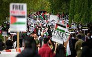 تظاهرات هزاران لندنی در حمایت از مردم مظلوم فلسطین