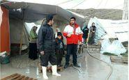 هلال احمر به 482 خانواده سیل زده کرمانشاه امداد رسانی کرد