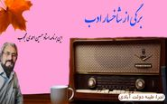برگی از شاخسار ادب ؛ این برنامه استاد حسین احمدی محجوب