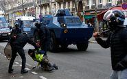 رفتار خشونت آمیز پلیس فرانسه با زن معترض او را تا مرز خفگی پیش برد +فیلم