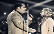 بوسه آقای خواننده بر پیشانی همسرش در کنسرت + عکس