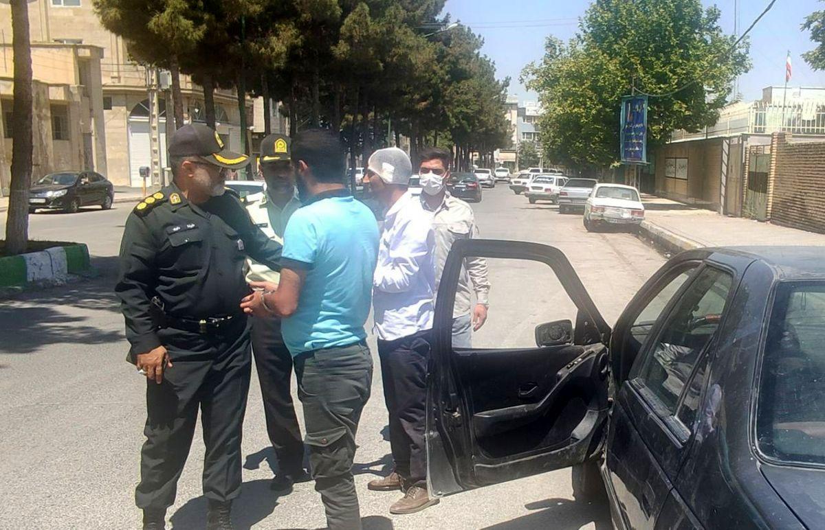 اشرار قمه کش در کرمانشاه با اقتدار پلیس زمینگیر شدند