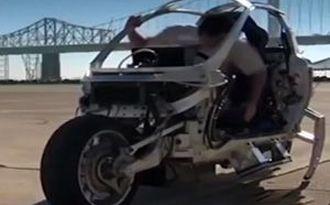 موتورسیکلت الکتریکی با قابلیت حفظ تعادل بسیار بالا