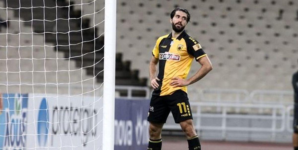 هفته چهارم لیگ یونان| شکست آاک آتن 10 نفره با حضور انصاریفرد