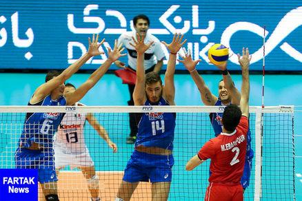 لیگ ملتهای والیبال/ ایران ۲ - ایتالیا ۱