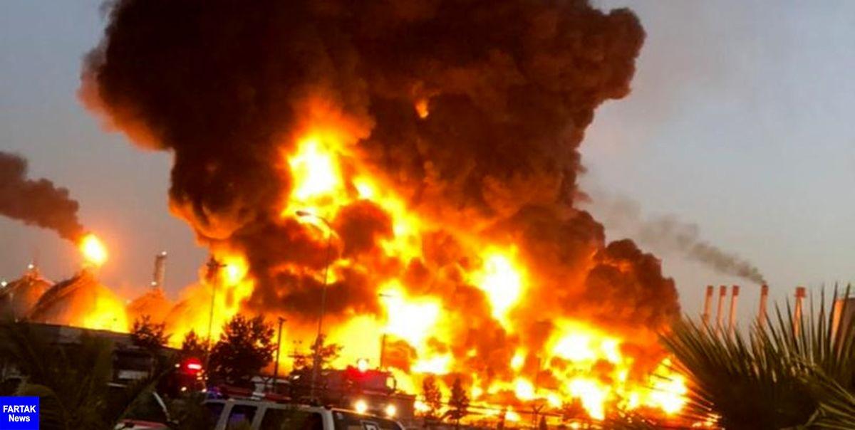 فرماندار ری: آتشسوزی پالایشگاه تهران تحت کنترل است/ حادثه هیچ کشته و مصدومی نداشت