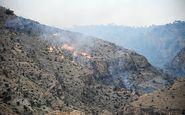 آتش از بهبهان خوزستان به سمت کهگیلویه و بویراحمد زباله میکشد