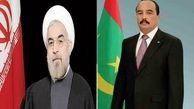 پیام تبریک رییس جمهور موریتانی به حسن روحانی