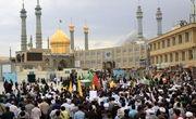 پیکرهای مطهر 2 شهید مدافع حرم در قم تشییع شد