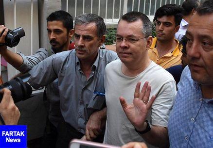 ترکیه، کشیش محبوس آمریکایی را آزاد کرد