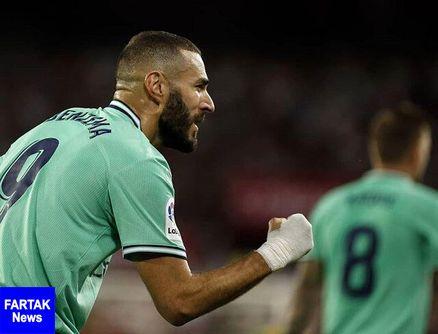 پیروزی رئال مادرید به لطف گل بنزما
