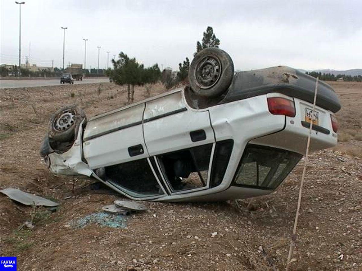واژگونی پراید و مرگ راننده در دشتستان