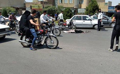 کشته شدن دختر 15 ساله قمی وسط خیابان